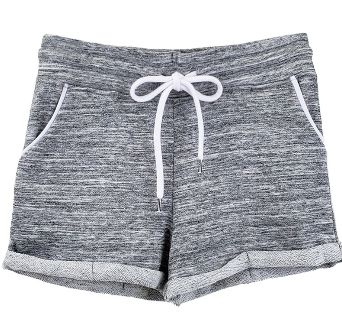 Max & relax french terry shorts in marled grey