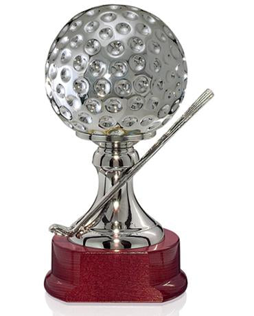 Golf Ball and Clubs Trophy