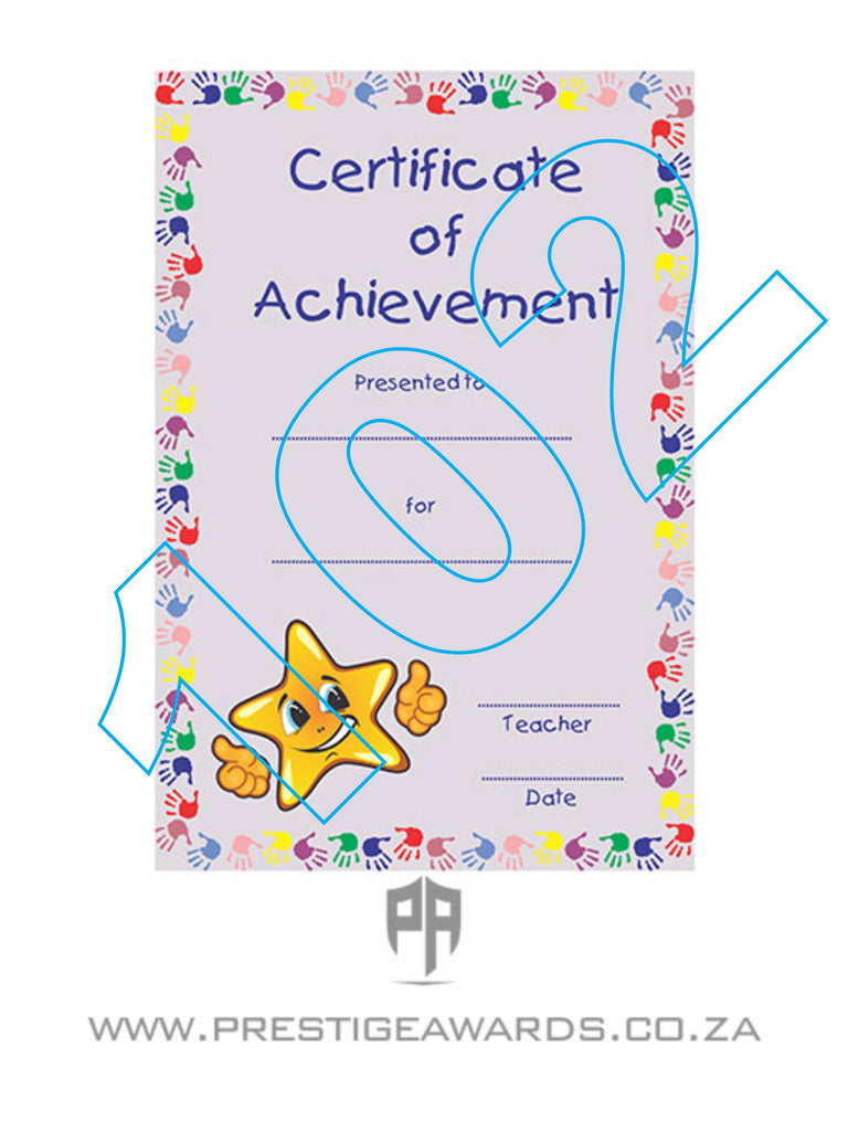 Certificate 102-105 (Kiddies)