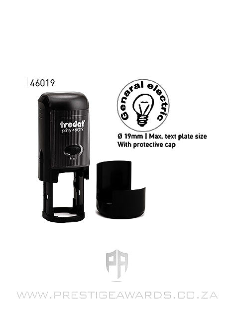 Self-inking Round Rubber Stamp