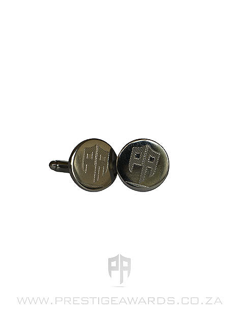 Personalised Round Chrome Cufflinks
