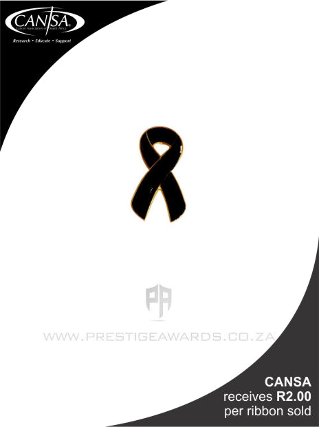 Skin Cancer (Black) Awareness ribbon