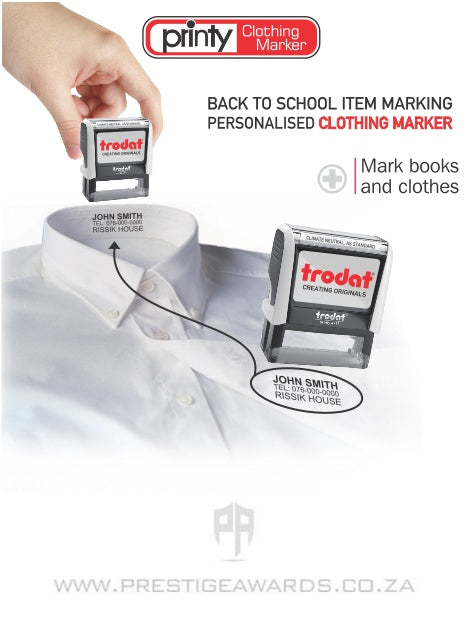 Self-inking Clothing and Book Marker
