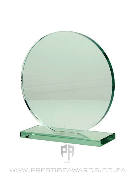 Jade Glass Circle Trophy