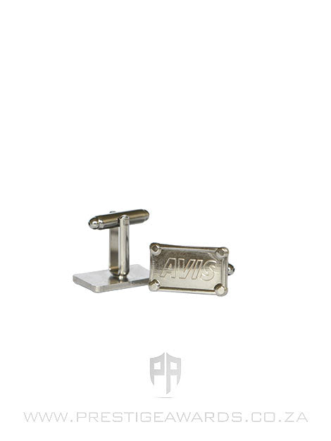 Personalised Rectangular Chrome Cufflinks