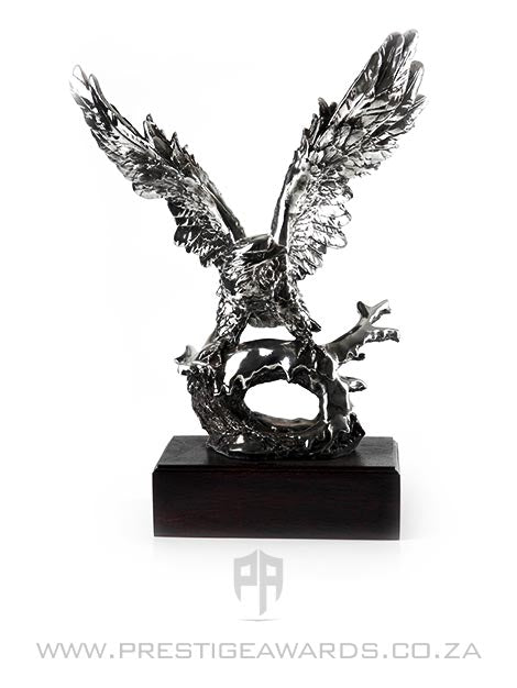 Eagle Trophy with Spread Wings