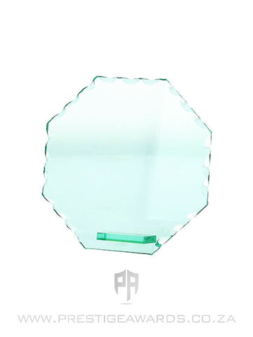 Jade Glass Octagon Mini Trophy