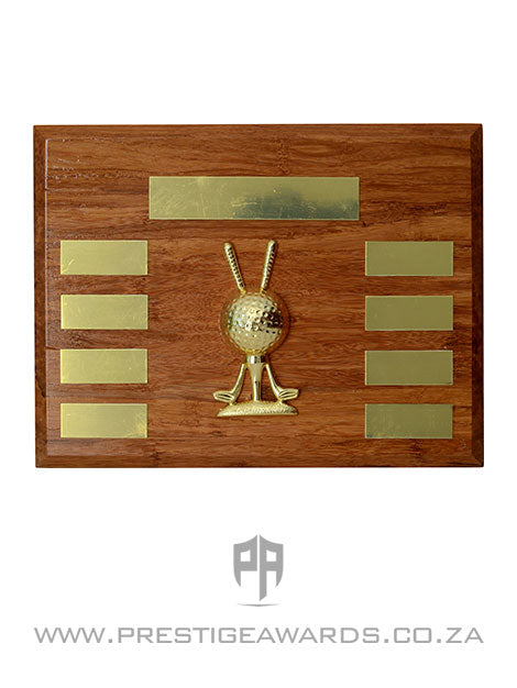 Golf Clubs and Ball Plaque Award