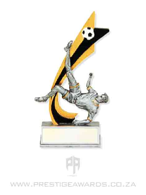 Soceer Flag Resin Trophy T0418