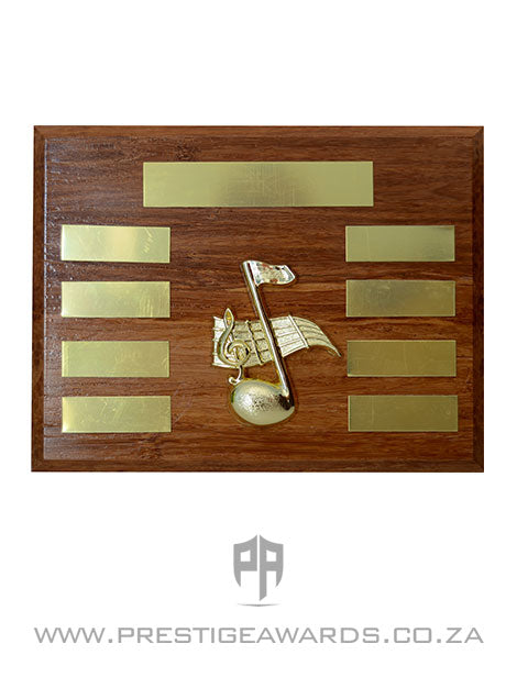 Music Plaque Award