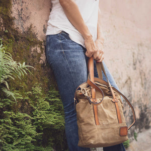 Scrambler Canvas Tote Bag and leather Cameron Sling