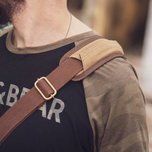 Scout Satchel Waxed Canvas and Vegtan Leather for Unisex