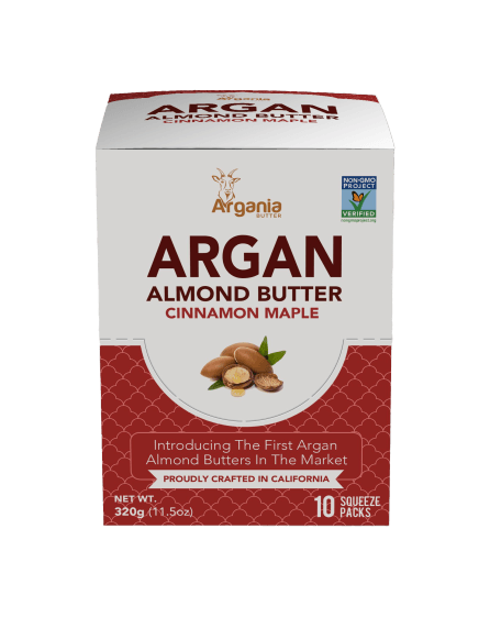 Argania Almond Butter - Cinnamon Maple Single Serve Box (10-pack) - LyteProtein