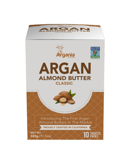 Argania Almond Butter - Classic Single Serve Box (10-pack) - LyteProtein