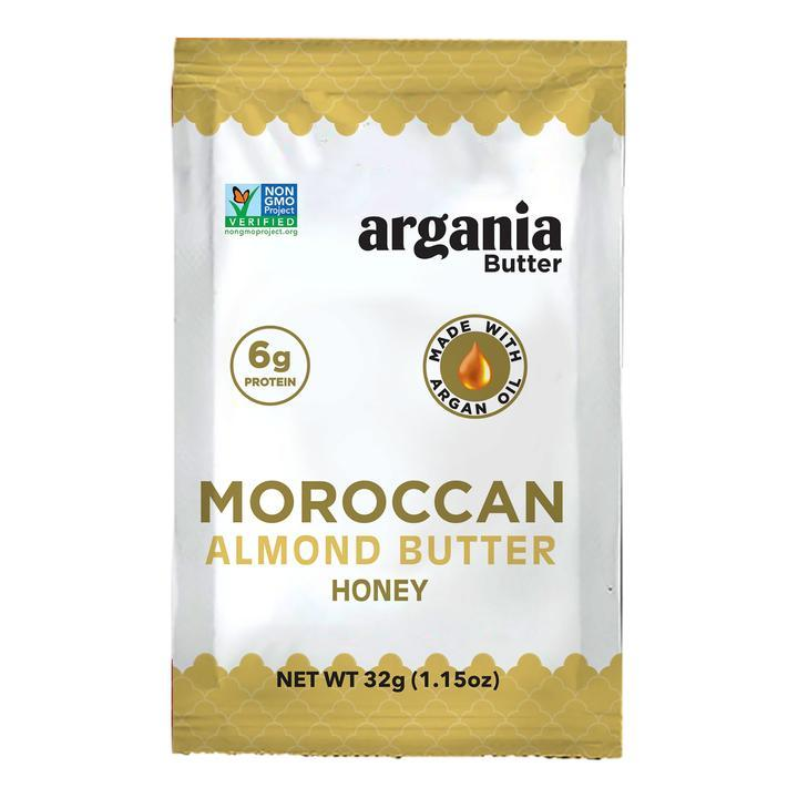 Argania Almond Butter - Honey Single Serve Box (10-pack) - LyteProtein