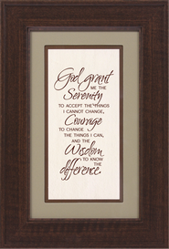 Picture: Serenity Prayer