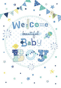 New Baby Welcome Beautiful Baby Boy