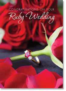 Anniversary Congratulations on Your Ruby Wedding