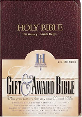 KJV Gift & Award Bible, Burgundy Imitation Leather