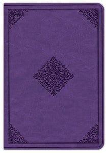 ESV Large Print Compact Bible (TruTone Imitation Leather, Lavender, Ornament Design)