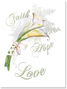 Wedding Faith Hope Love