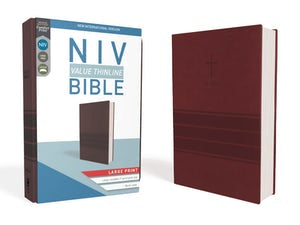 NIV value thinline Large Print Burgundy