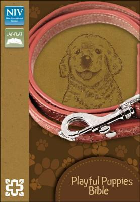 NIV, Playful Puppies Bible, Imitation Leather, Brown, Red Letter