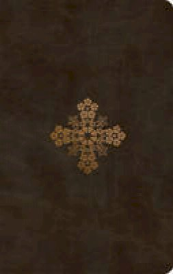 ESV Ultrathin olive floral cross design