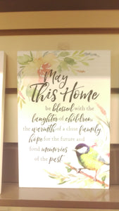 Plaque: May This Home