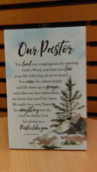 Plaque: Our Pastor