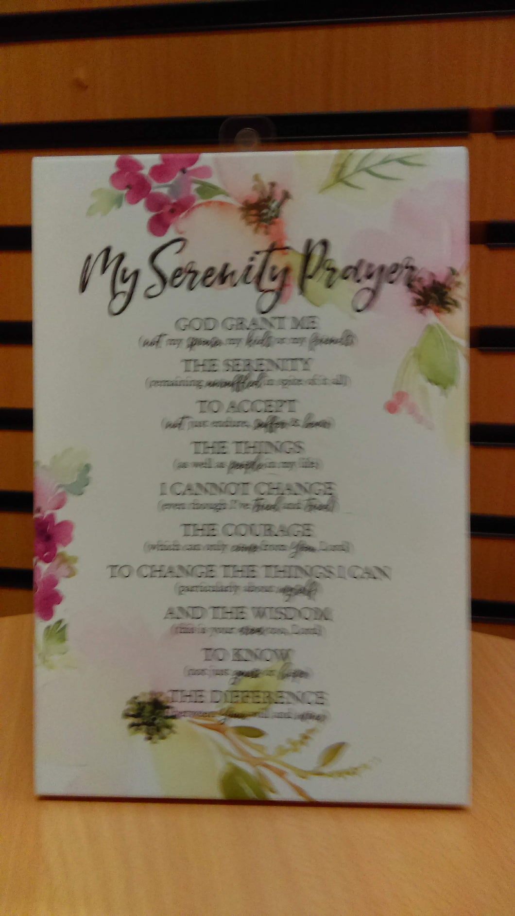 Plaque: My Serenity Prayer