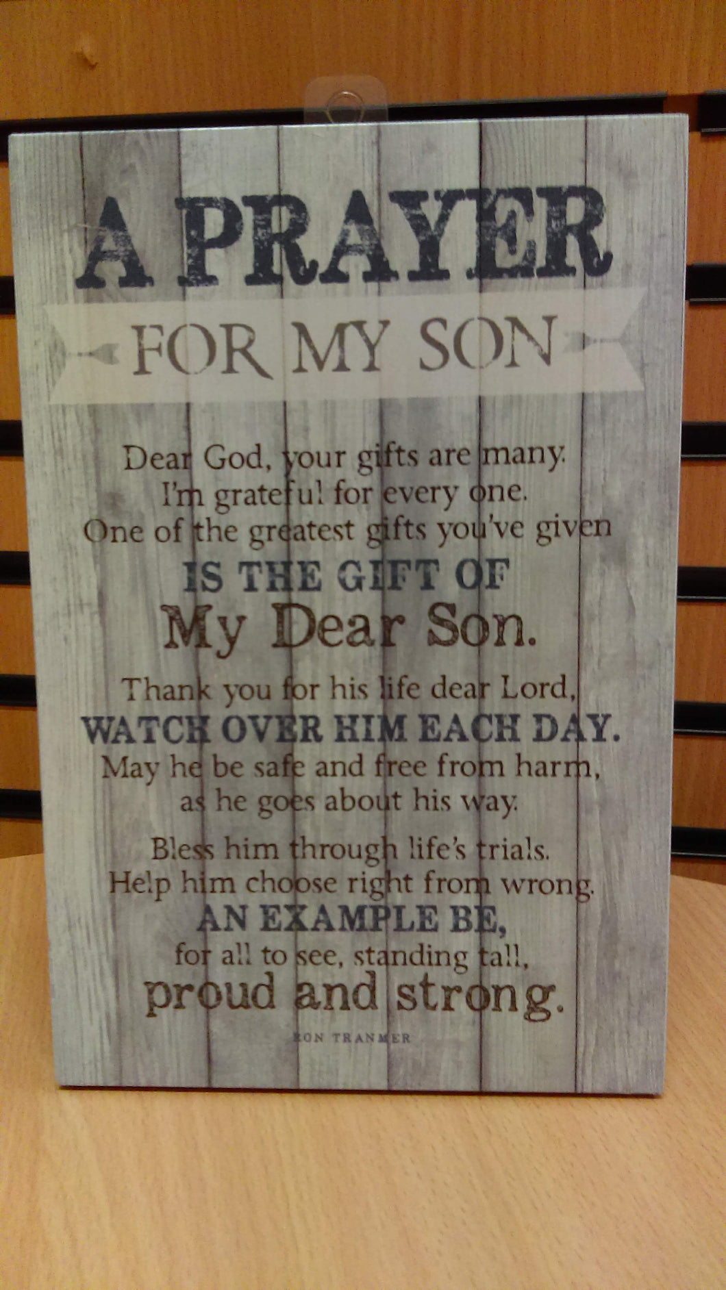 Plaque: A Prayer for my Son