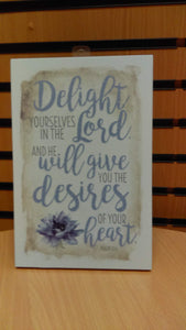 Plaque: Delight Yourself