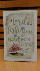 Plaque: The Lord will fight