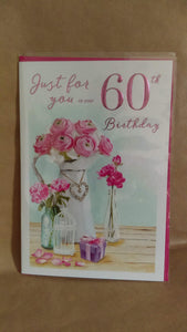 Adult Age Birthday Just for you on your 60th Birthday