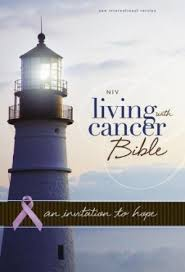 NIV, Living With Cancer Bible, Imitation Leather, Navy/Brown: An Invitation to Hope