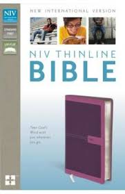 NIV Thinline Bible, Imitation Leather, Pink, Red Letter Edition