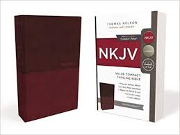NKJV Value Thinline Bible, Compact, Leathersoft, Burgundy