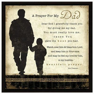 Plaque: A Prayer for my Dad