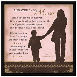 Plaque: A Prayer for my Mom