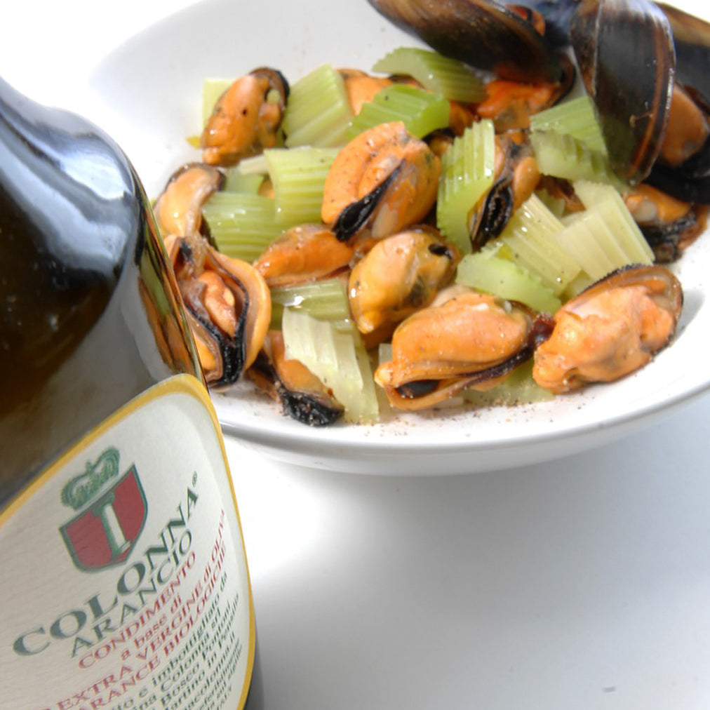 Image for Mussels with celery and Colonna arancio oil