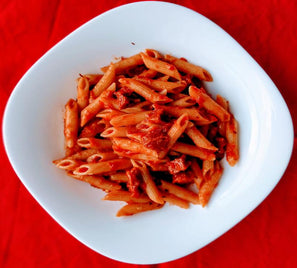 Penne with ricotta and tomato sauce