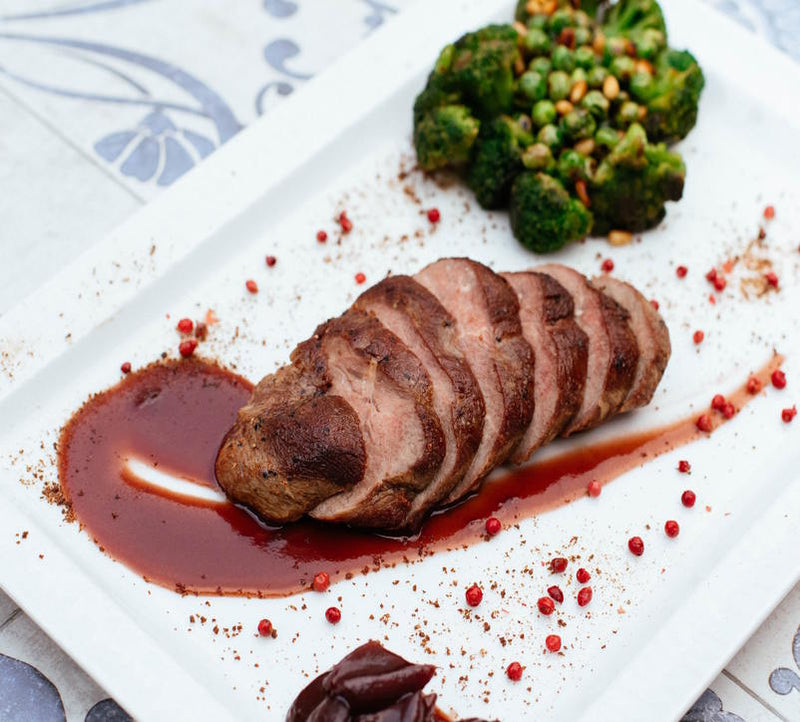 Image for Pork tenderloin with corn