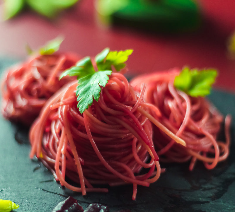 Image for Spaghetti con rubini (spaghetti with little rubies)