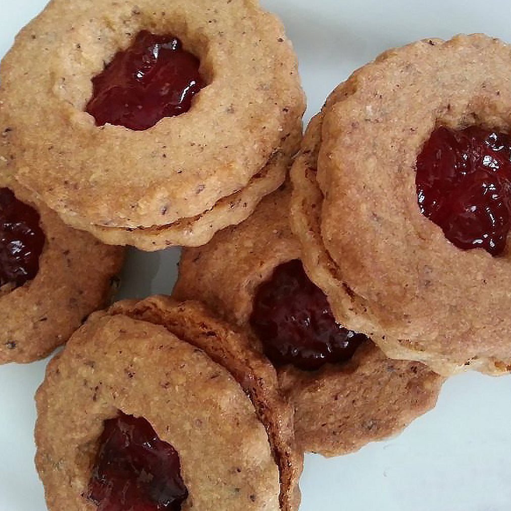 Image for Rosaoliva biscuits with rose petal jam