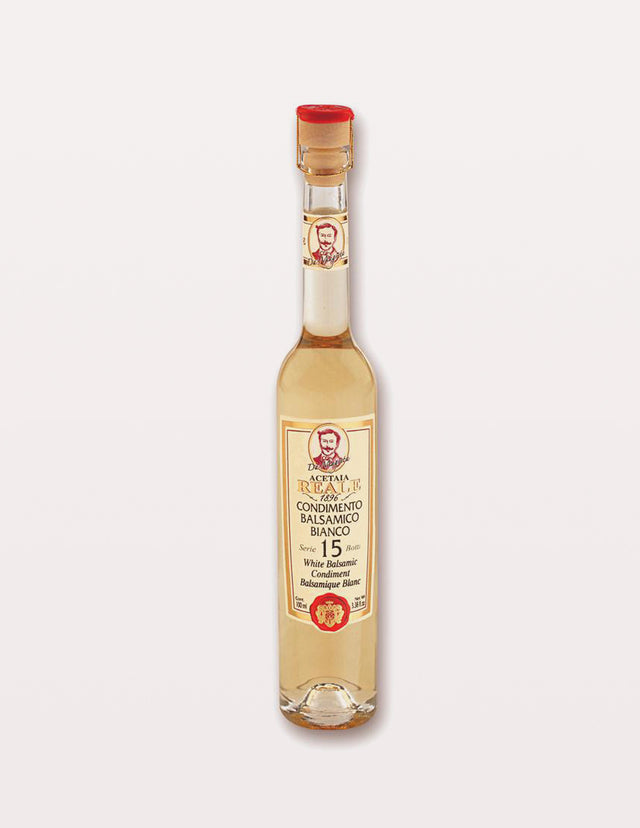 REALE White Balsamic Vinegar with REAL GOLD Flakes Gift Boxed