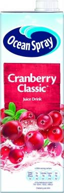 OCEAN SPRAY cranberry juice 1LTR