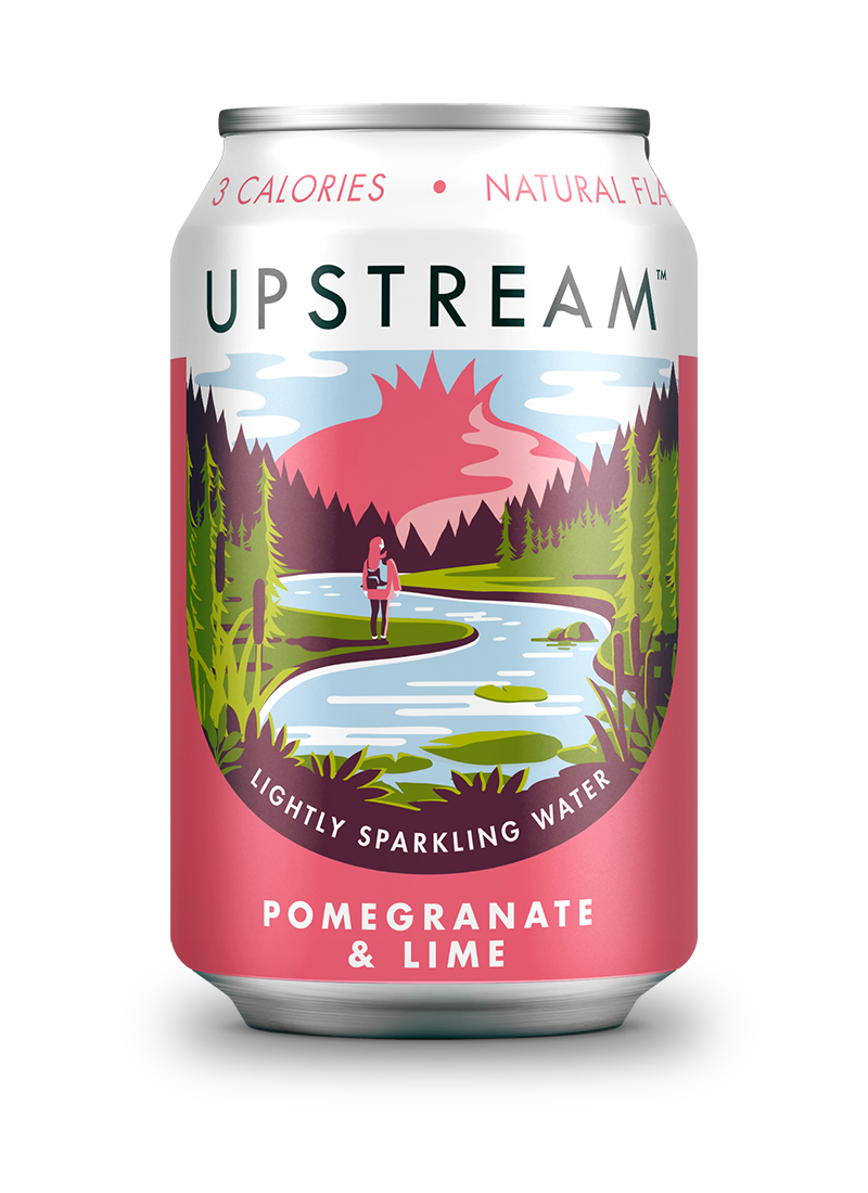 Upstream Pomegranate Lime 330ml