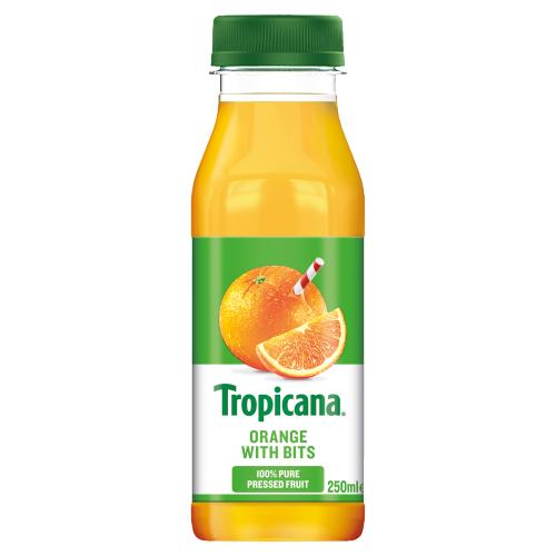 orange juice with bits 250ml