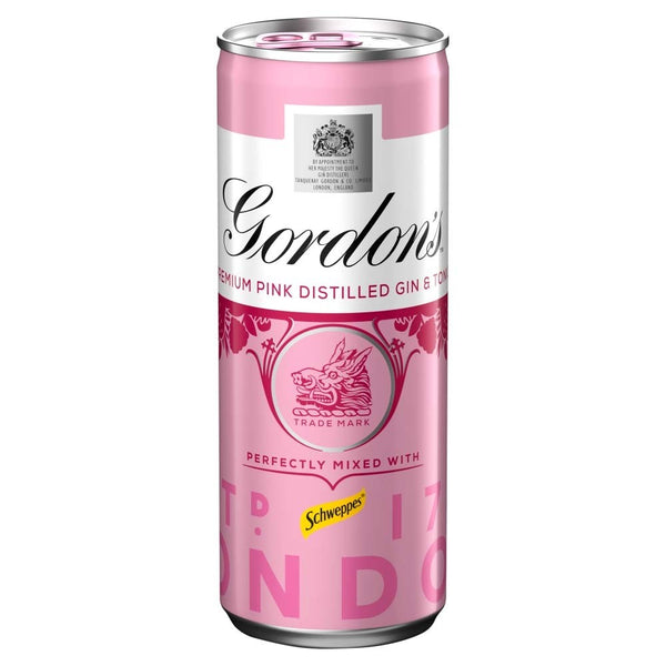 GORDONS PINK G&T CAN 250ml